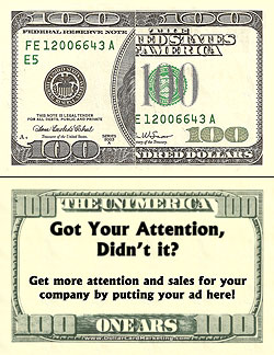 100 bill style business cards for 100 dollar bill business cards